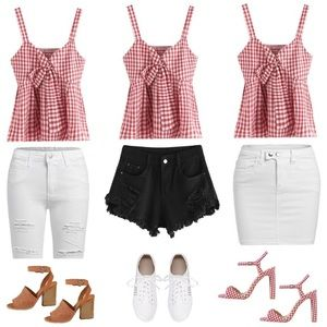 Tops - Checkered Top